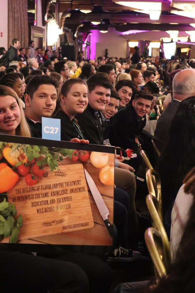 Kennedy's culinary group was among the crowd of more than 900 on April 11. The team shared its findings after visiting Northwell's Plainview Hospital kitchen.