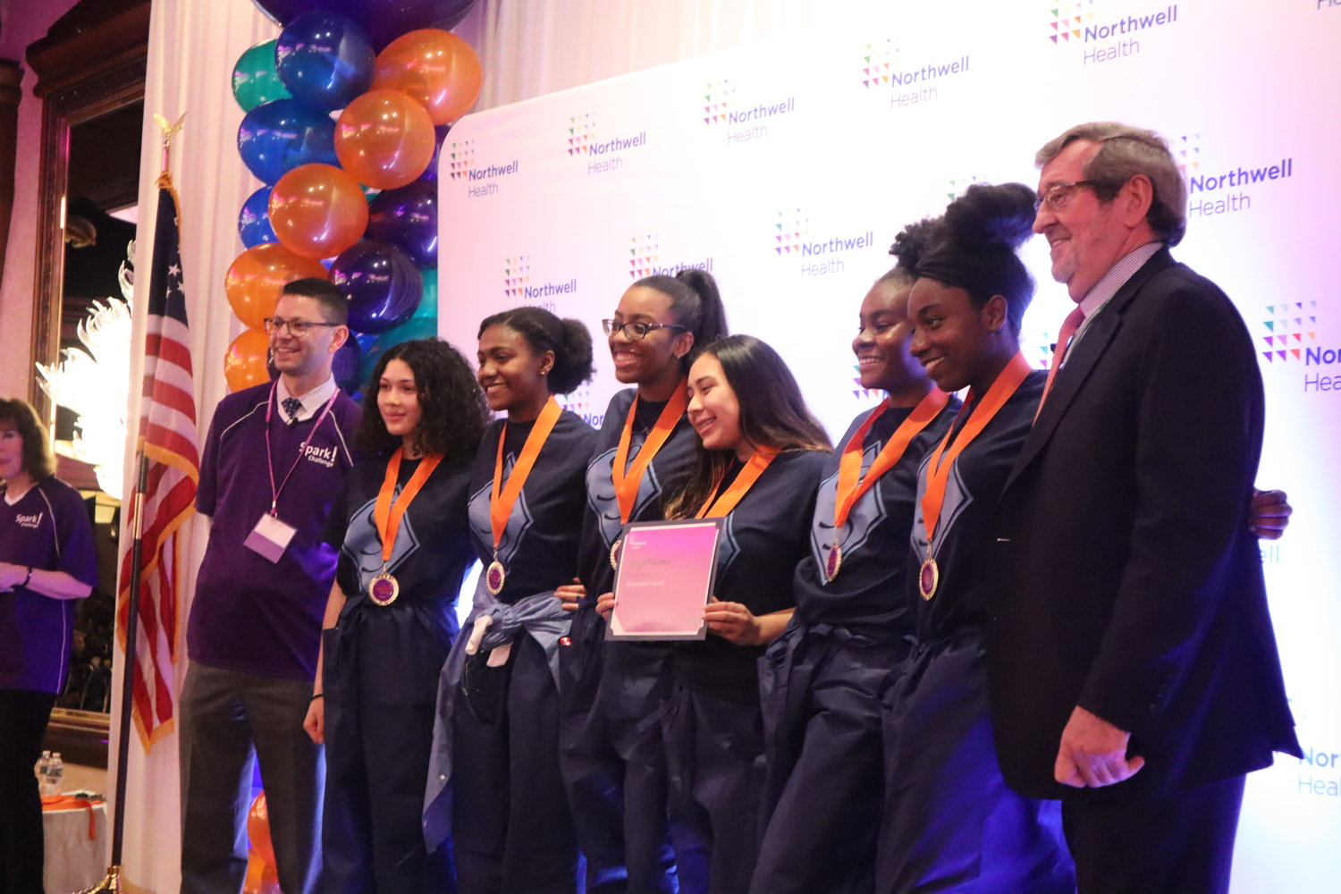 Baldwin High School took first place in the presentation award for its visit to Long Island Jewish Valley Stream Hospital.