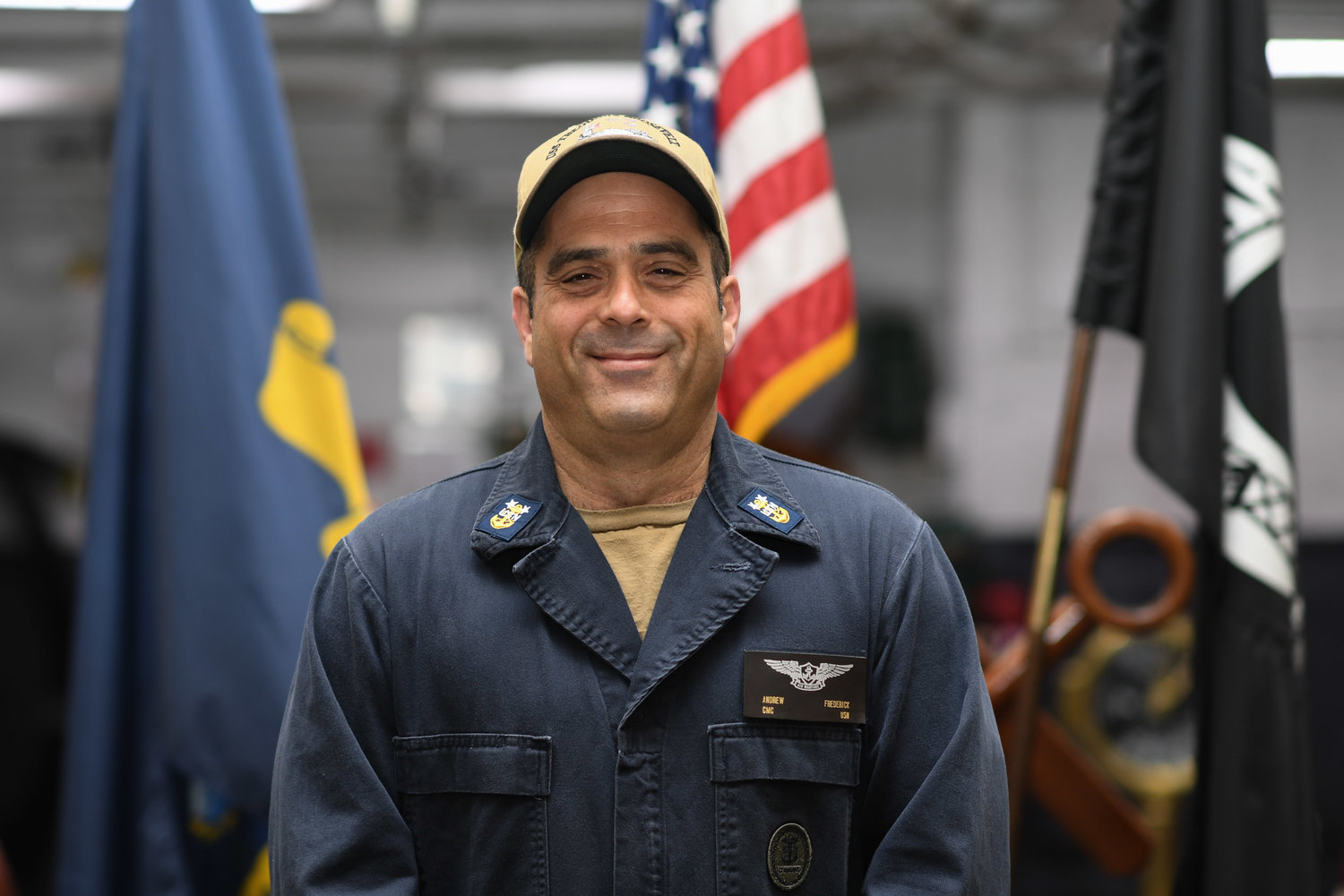 Andrew Frederick, who graduated from East Meadow High School in 1984, is a command master chief in the U.S. Navy aboard the aircraft carrier USS Theodore Roosevelt.