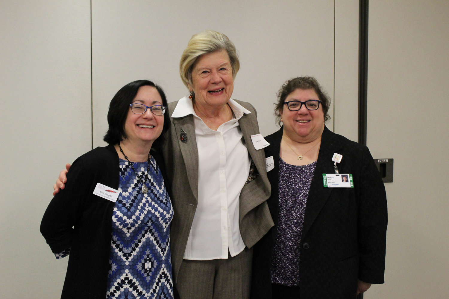 The Long Island Library Resource Council's fourth annual Hospital Library Services Program conference took place on April 5. Representing the LILRC was Sally Stieglitz, communications and marketing librarian, Linda Frank, a teacher and author, and Debra Rand, a medical librarian.