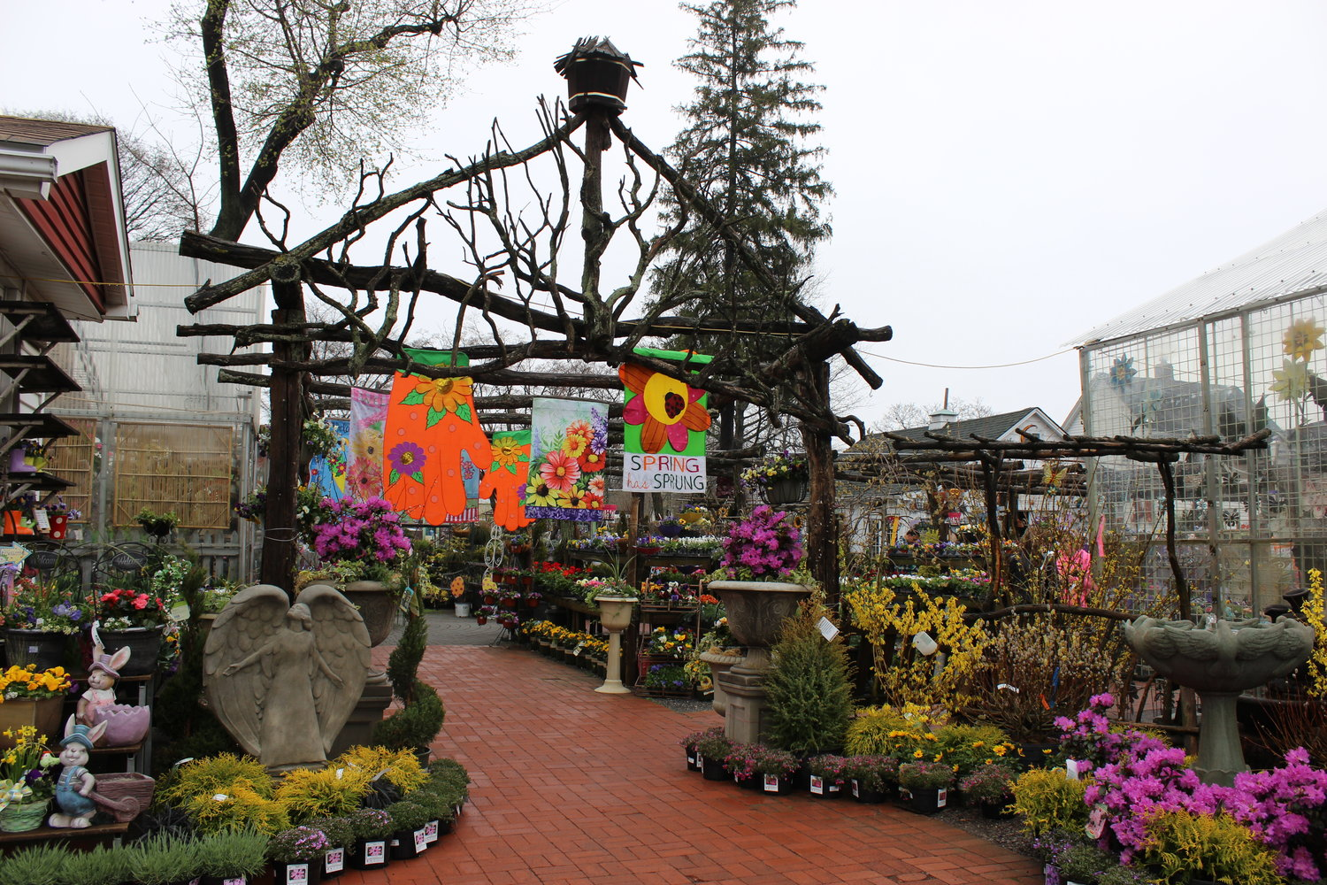 Cipriano Nursery and Florist would normally be gearing up for its annual Easter festival. It remains open for curbside pickup, delivery and browsing in its garden center.