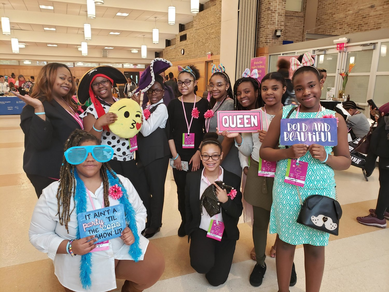 J.W. Dodd Middle School's club, Ladies of Dodd participated in the Girlz Talk conference hosted by Cedarmore Corporation held at Hofstra University on March 30.