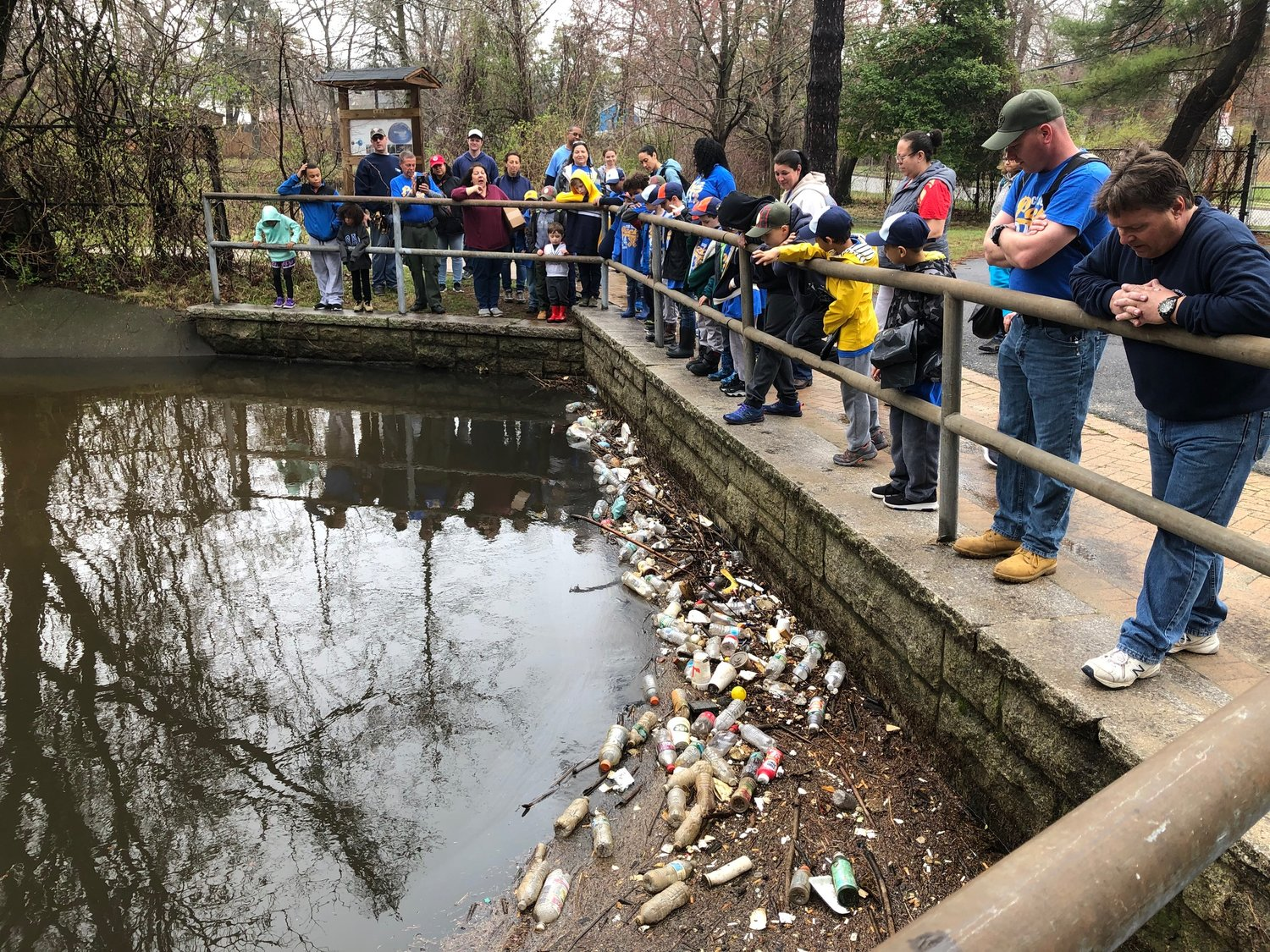 Cub Scouts Pack 24 in Malverne took part in a cleanup at Tanglewood Preserve in Rockville Centre on April 13.