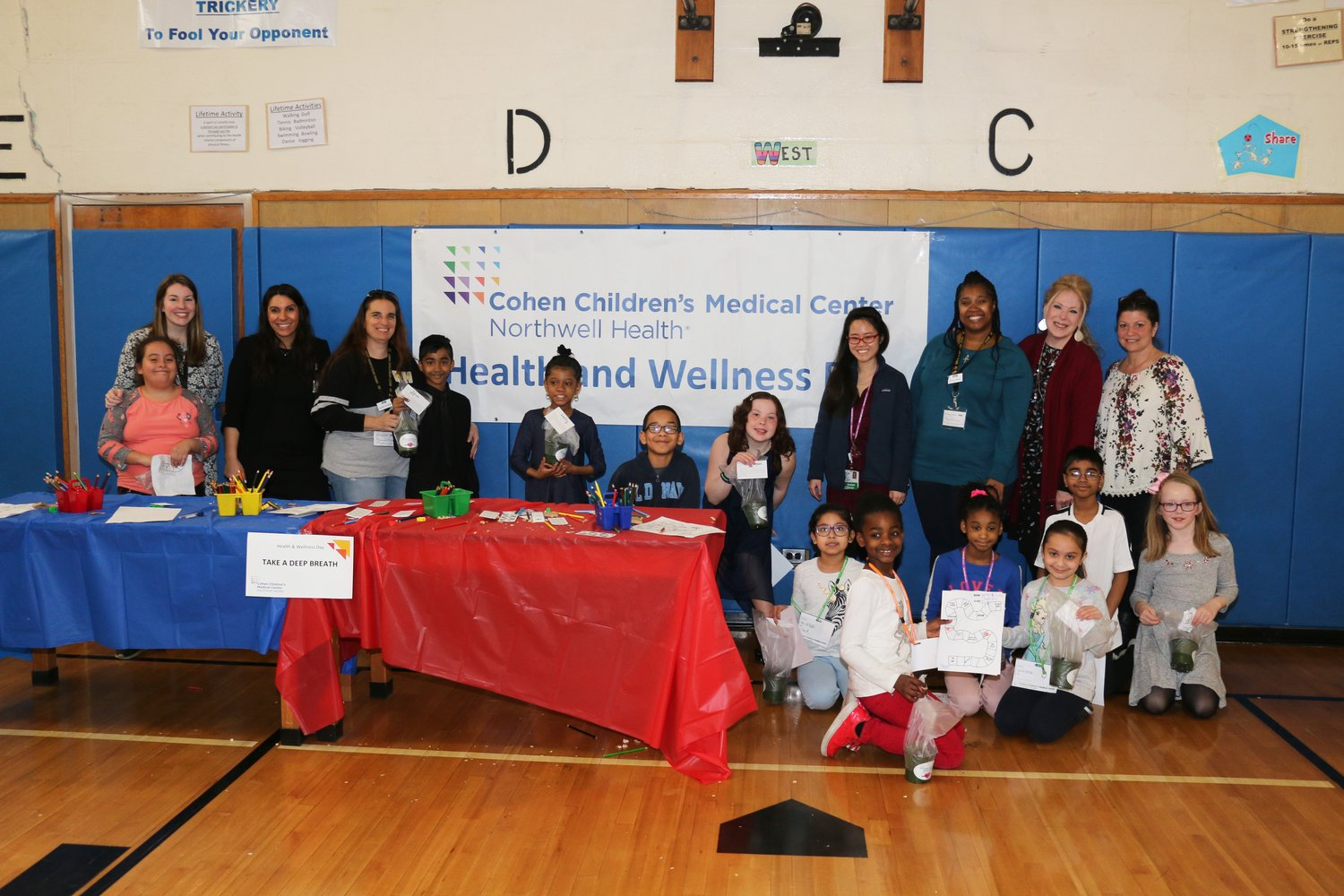 Representatives of Northwell Health Cohen Children's Medical Center visited Cornwell Avenue for a Health and Wellness Day Program on April 5.