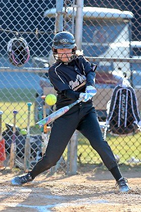 West Hempstead's Jenna Eivazi drove in two runs with a single in the team's 9-7 victory over North Shore on April 3.