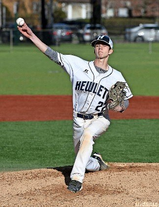 Junior Anthony Isayev pitched Hewlett to victory April 17, allowing just two hits while striking out six in a 3-2 decision over Glen Cove.