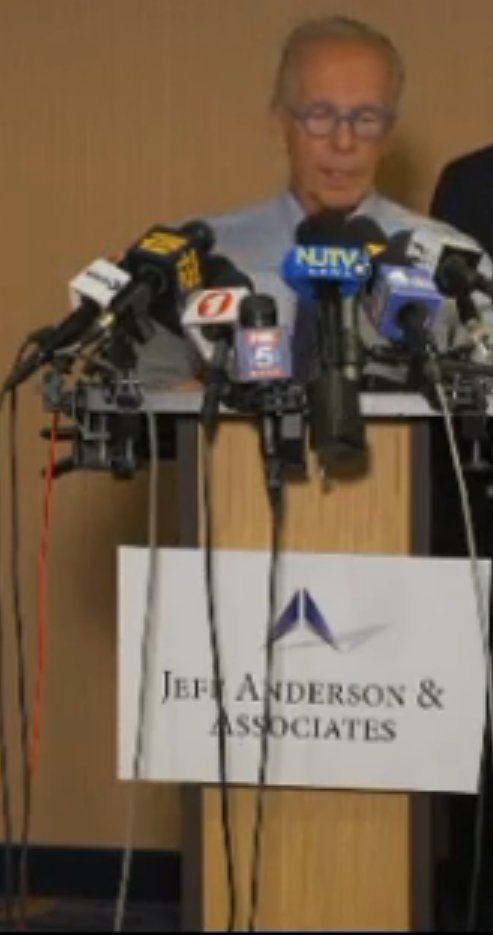 Jeff Anderson of Jeff Anderson & Associates spoke at his law firm's news conference on April 23.