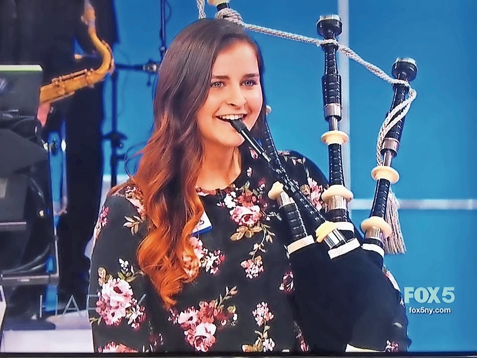 Piper Erin McGrath, 19, a biology student at Molloy College, performed on the Harry Connick, Jr. show in October 2017.