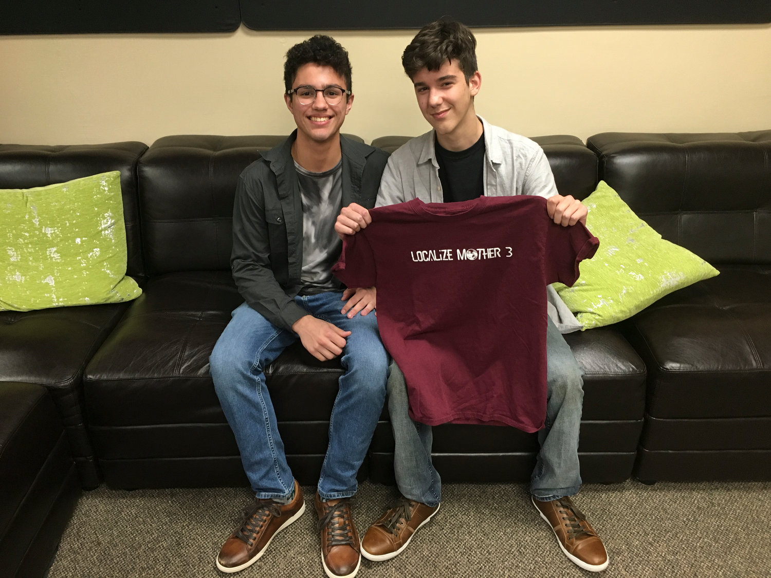 Wantagh High School sophomores Cristian Barberio, left, and Dominick Rossi recently created their own custom clothing company, Gateway Apparel.