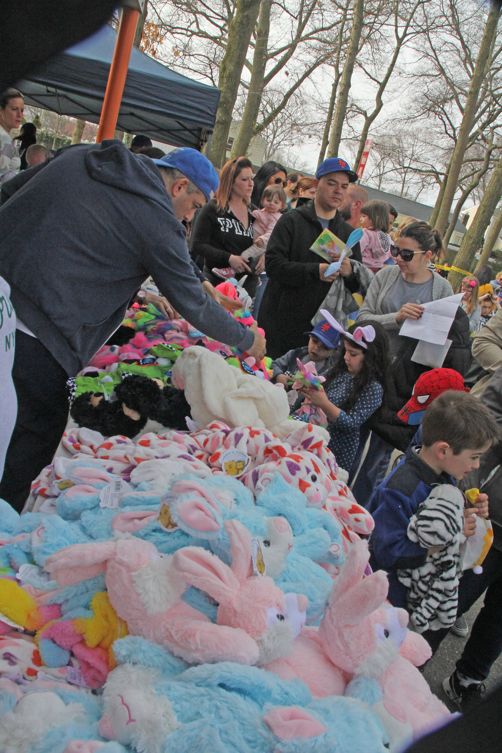 Many stuffed rabbits were sold during the event.