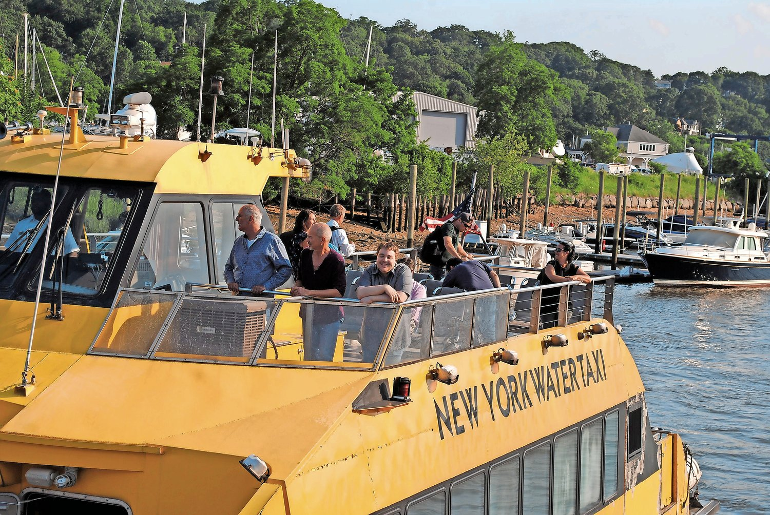 Mayor Tim Tenke met with representatives of two ferry operators to discuss a potential partnership once the Glen Cove ferry is up and running.