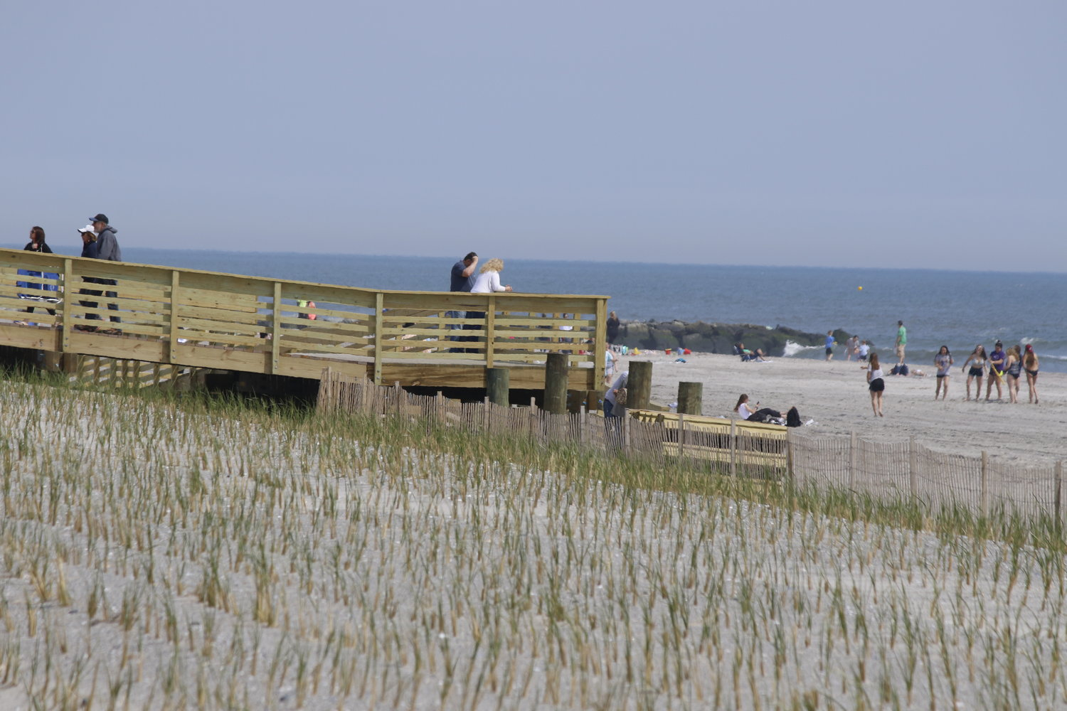 The jetties, dunes and beach extension are designed to protect seven of the nine miles of public shoreline between Jones Inlet and East Rockaway Inlet from storms and flooding.
