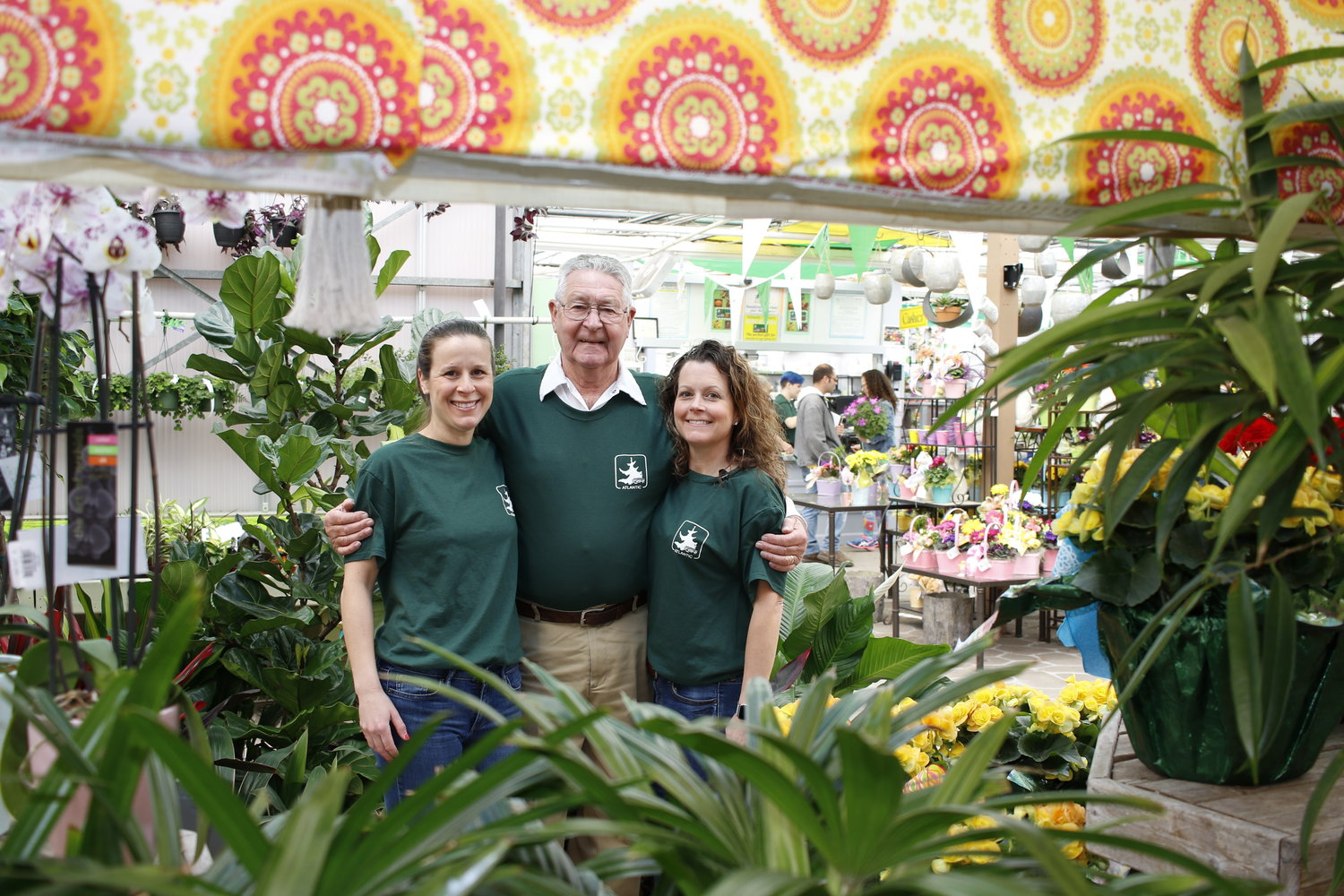 Atlantic nursery first opened in 1929. Ninety years later, Leeanne Kraus, left, Sig Feile and Christina Feile, right, run the family business together.