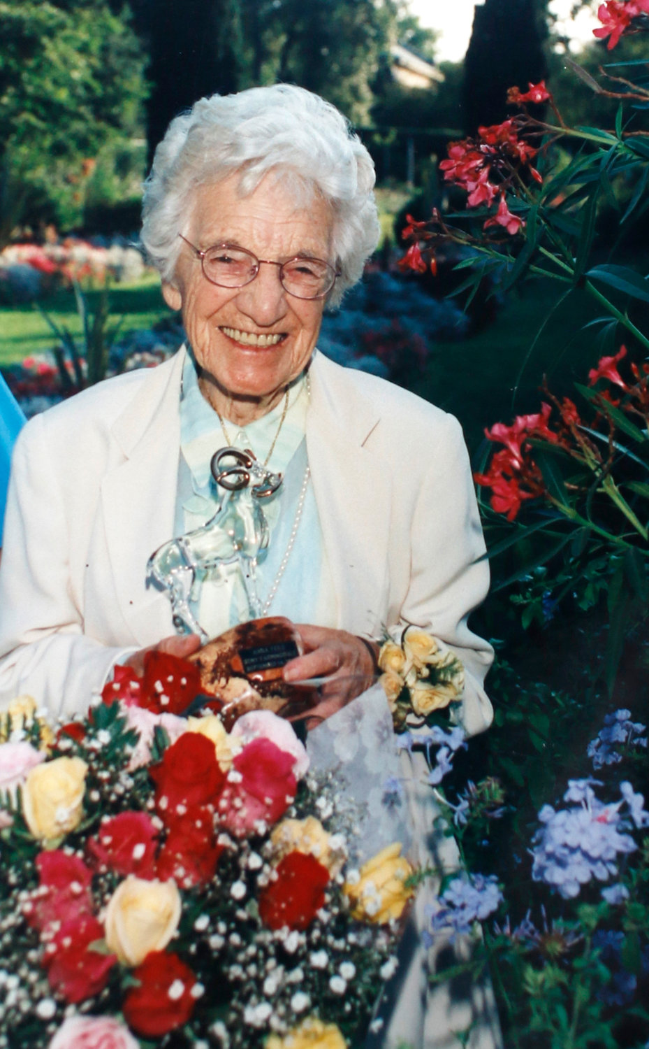 Anna Feile, who took over the nursery in 1957 and the first woman to be nurseryman of the Year in 1968.