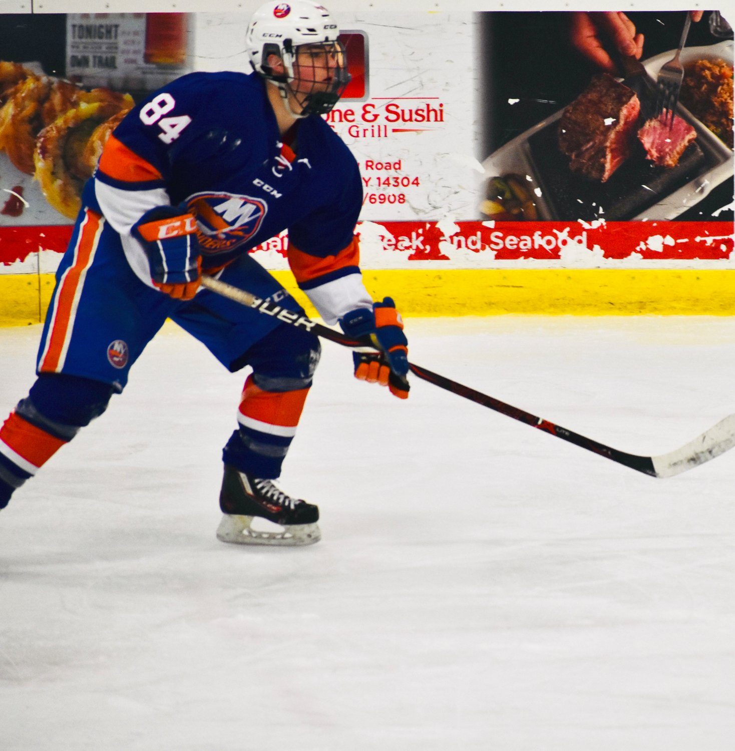 Ahlers, 16, also plays on the PAL Jr. Islanders travel team.