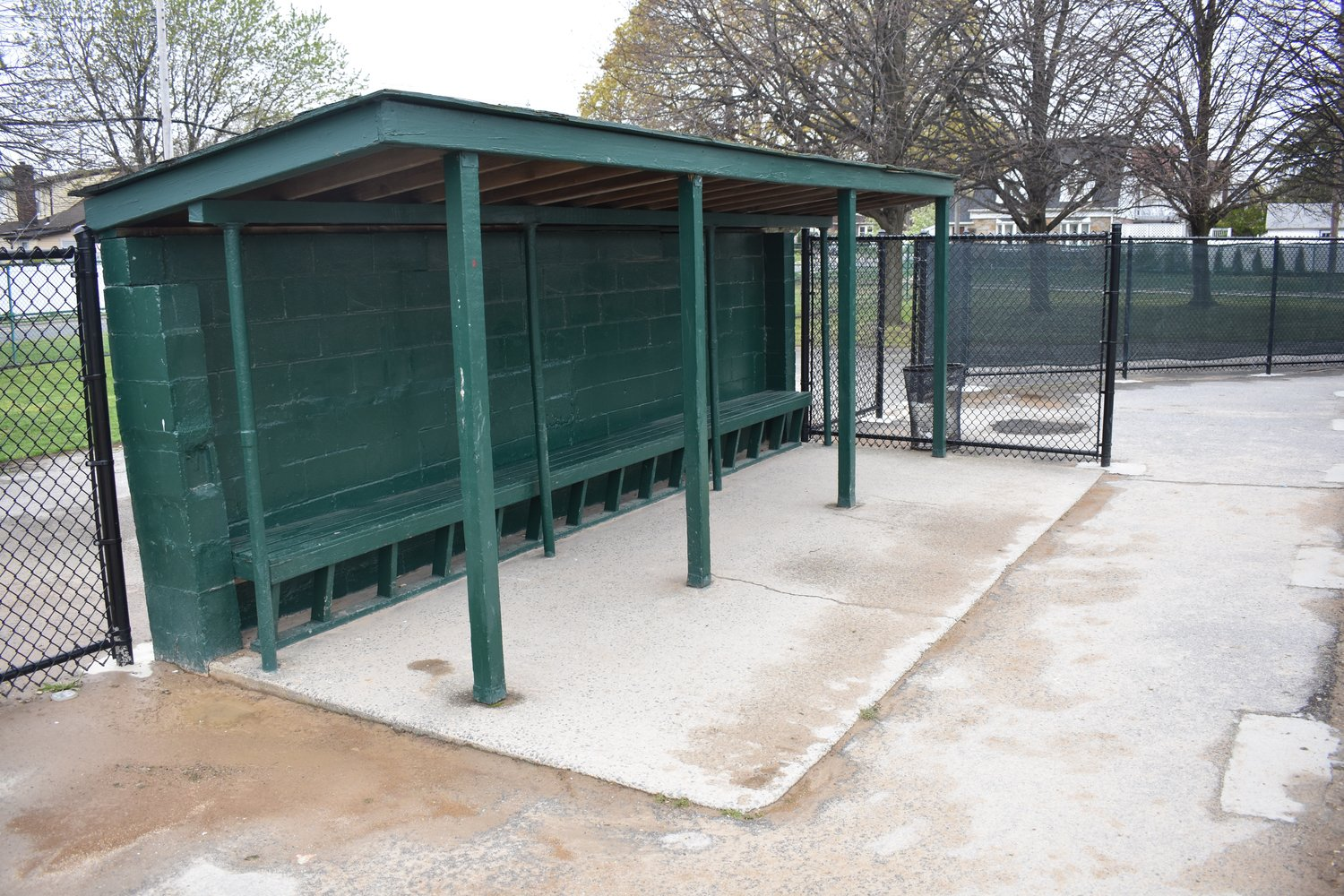 Mayor Francis X. Murray said the village may be able to upgrade the dugouts at Barasch Field next year.
