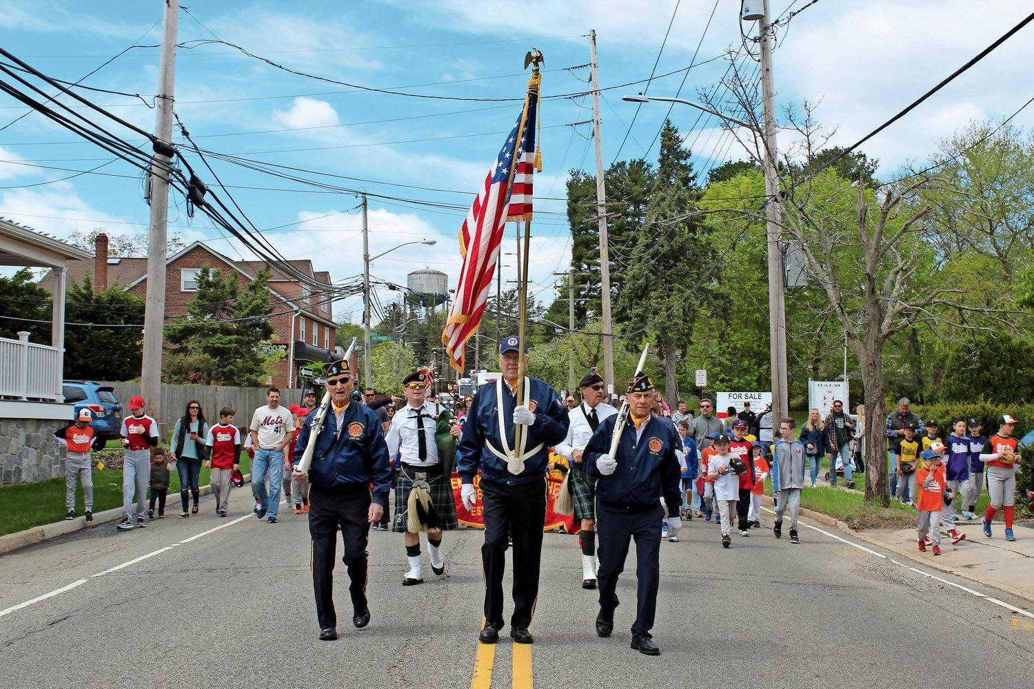 Members of the Glenwood Landing American Legion provided a color guard for the parade.