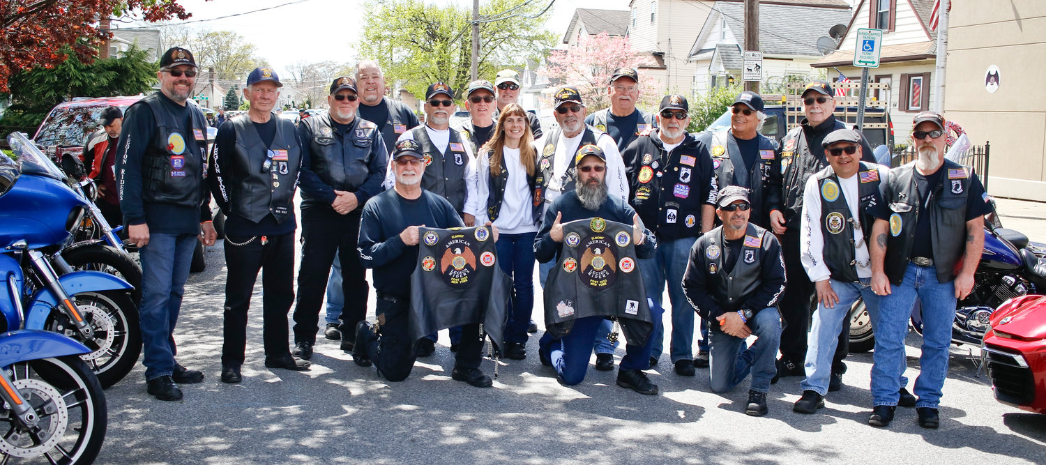 The Elmont American Legion, and the Elmont Legion Riders above, hosted their 9th annual bike blessing at the post on April 27.