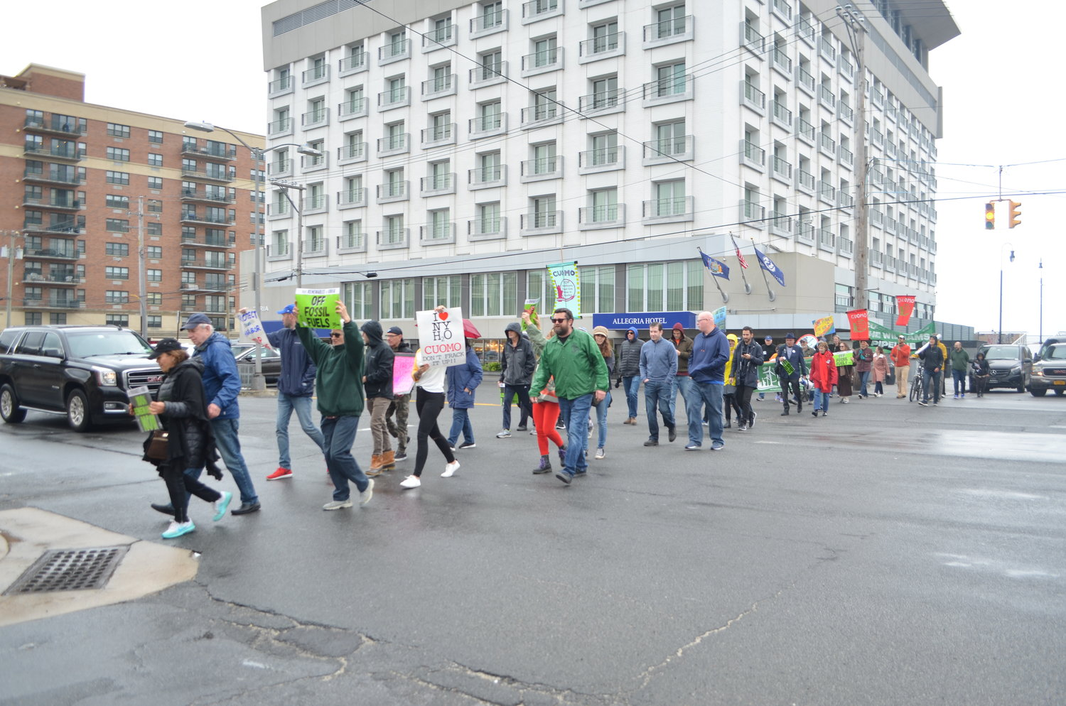 Activists made their way to Kennedy Plaza after the rally, where the city hosted its third annual Earth Day celebration.