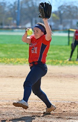 Freshman Jessica Mauro has been impressive in the circle for the Lady Generals, who are battling with Mepham for the Conference A-I crown.