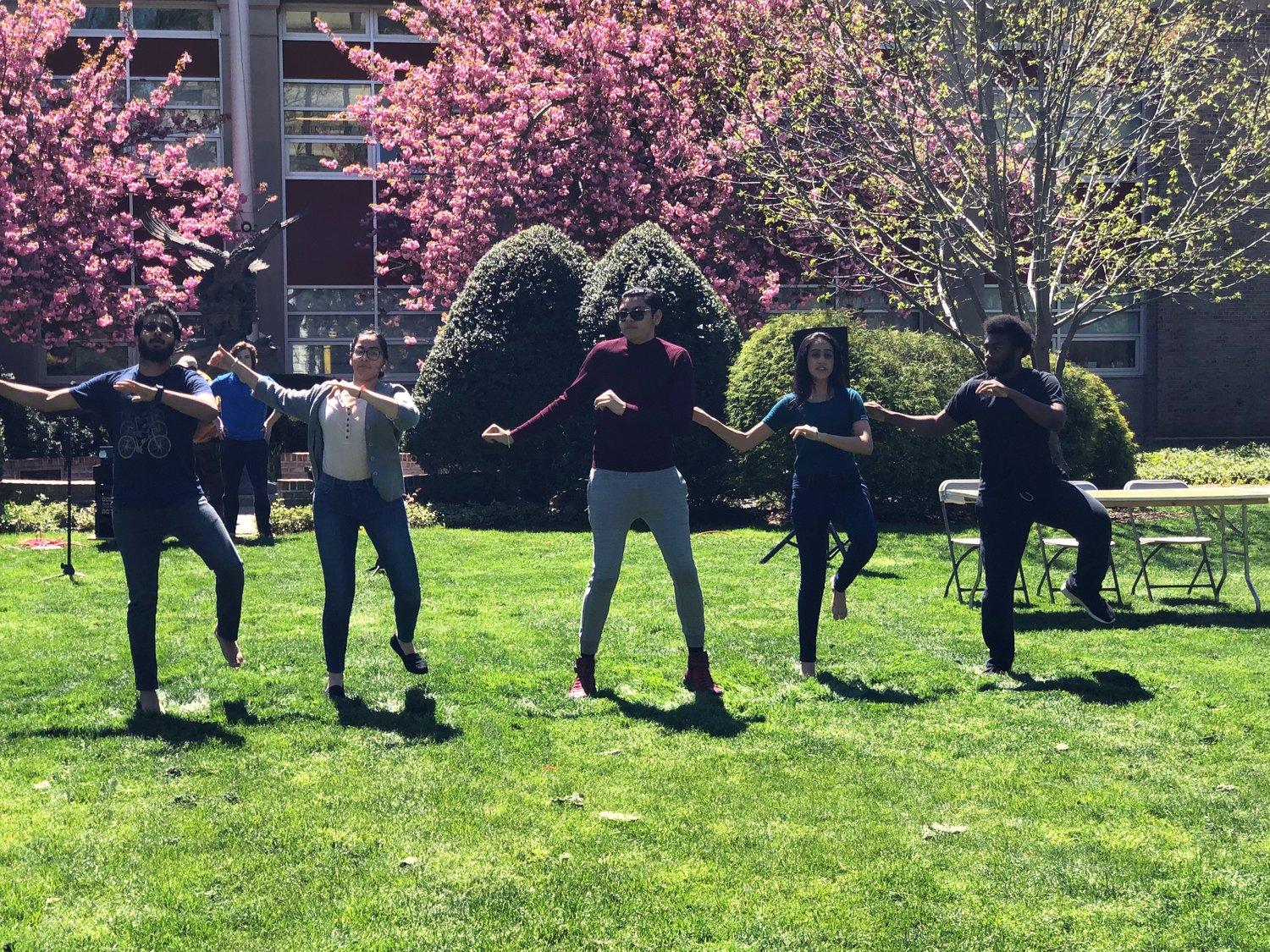 A Hofstra dance group for entertainment at the Earth Day event.