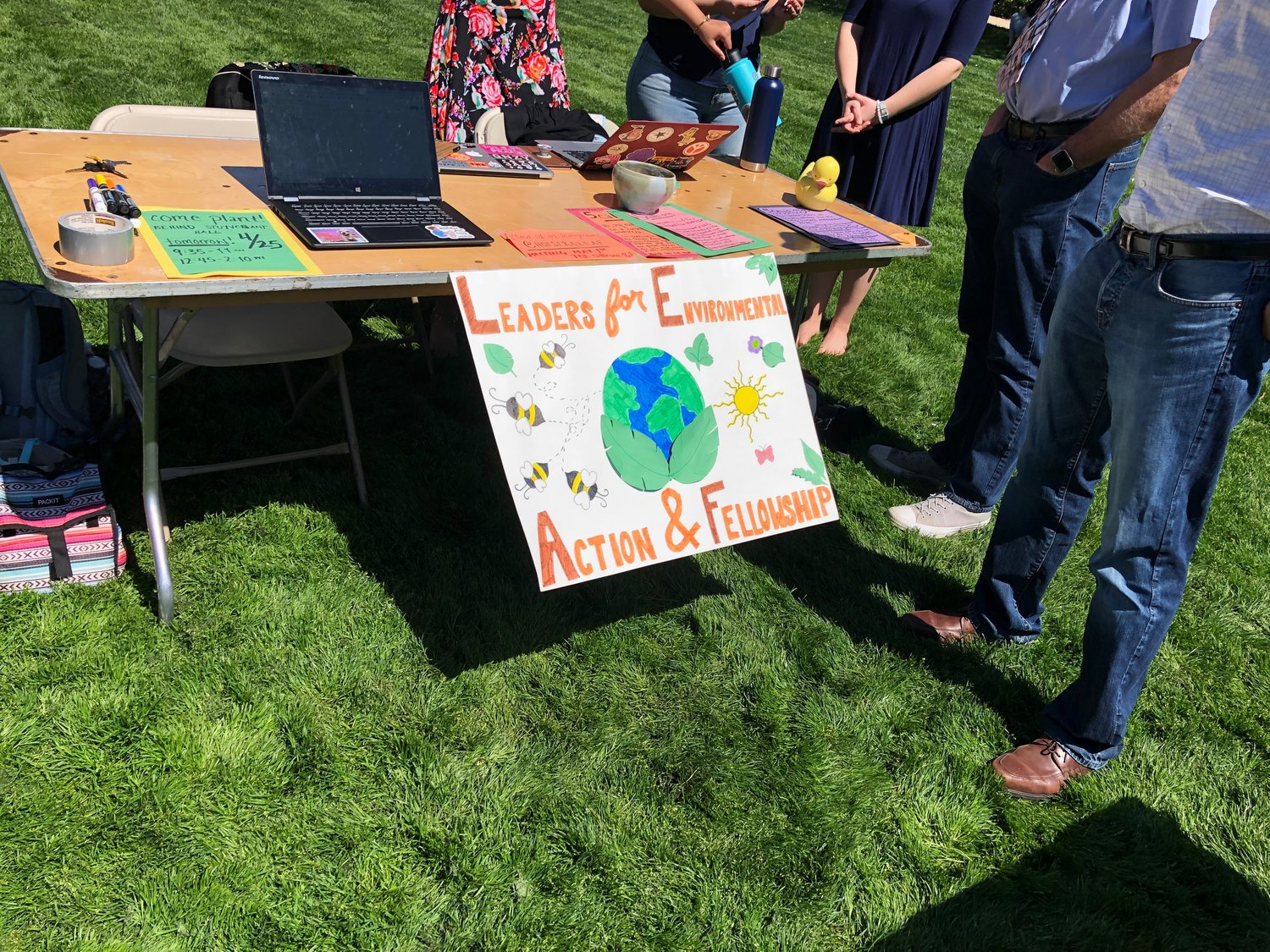 Leaders for Environmental Action and Fellowship (LEAF) had a table with information about how their fellow Hofstra students can help protect the environment.