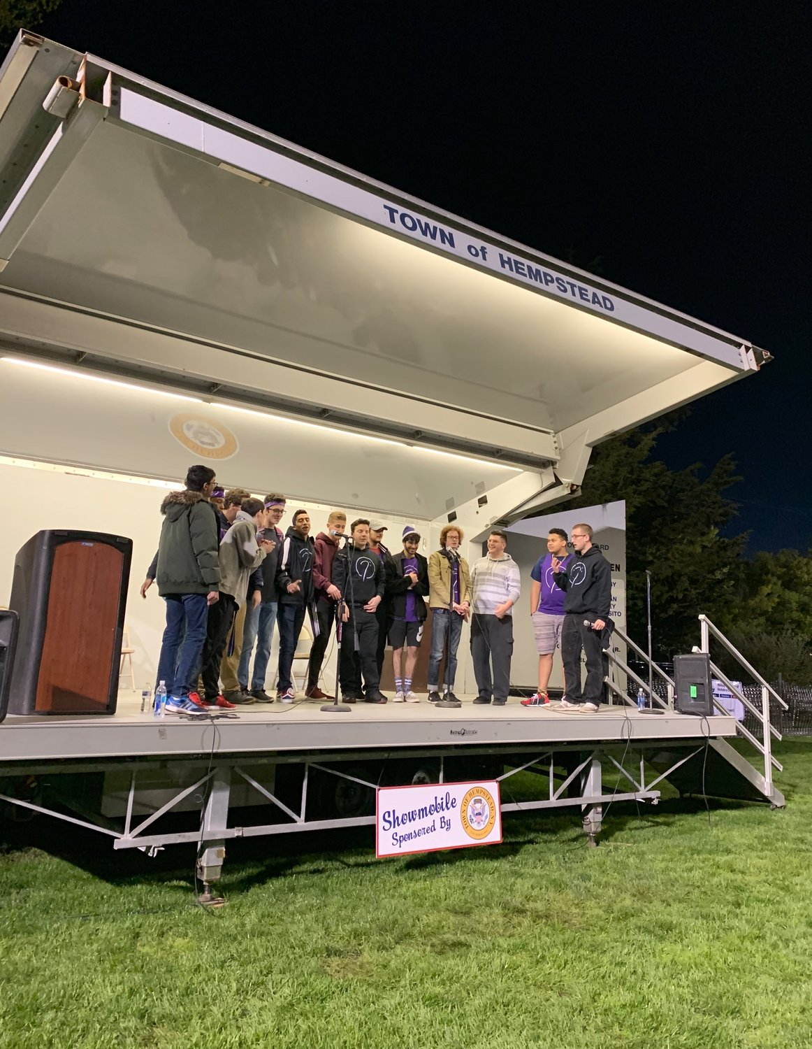 Performances by Hofstra a capella groups brought participants together at the 12th annual Hofstra University Relay for Life, sponsored by the American Cancer Society.