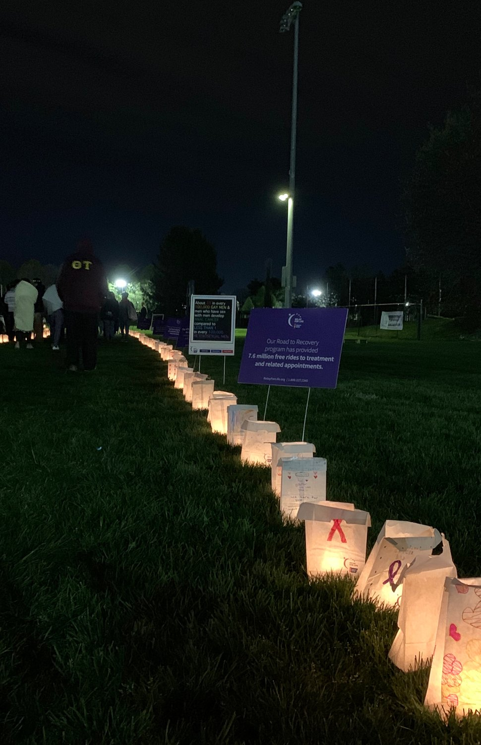 The Lighting of the Luminaria silent walk honored those who had lost their battles with cancer and those who had survived.