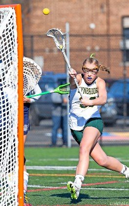 Sophomore Jenna Hendrickson scored five times April 29 as the Lady Owls stayed hot with an exiciting 9-8 victory over Locust Valley.