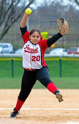 Jaylynn Cruceta earned the win for the Lady Red Devils on May 1 when they defeated Westbury, 15-4, to maintain a comfortable lead atop Conference AA-III.