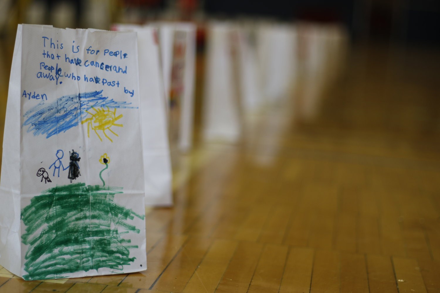Like last year, participants will make luminaria bags and dedicate them to those who have been affected by cancer.