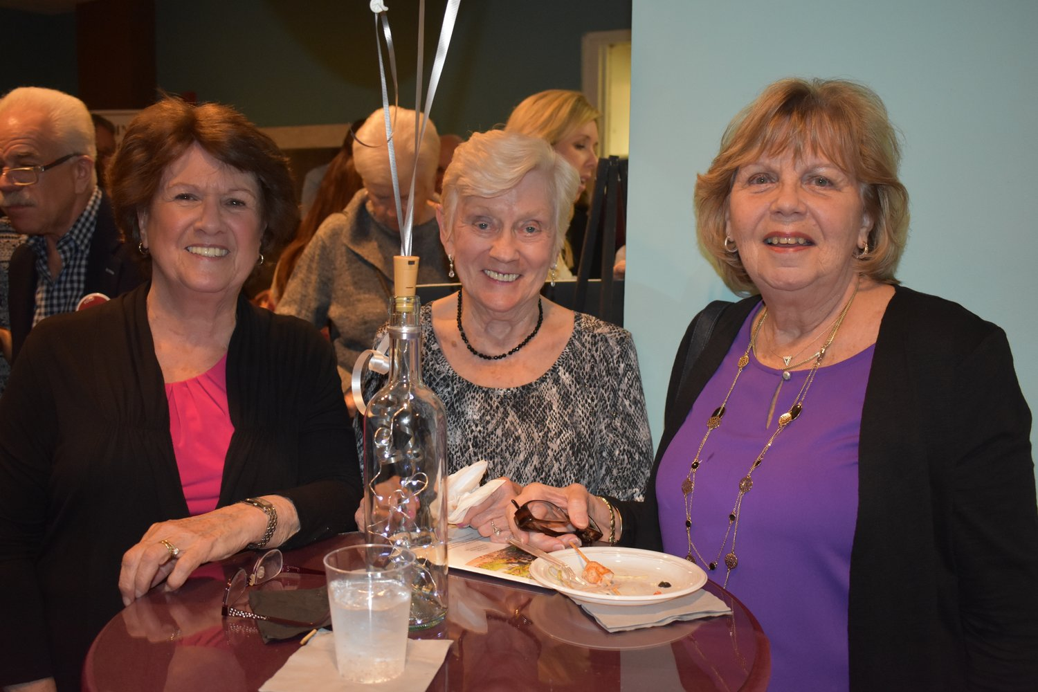 Bea Heaney, left, Pat Turner and Carol Hertel enjoyed some food.