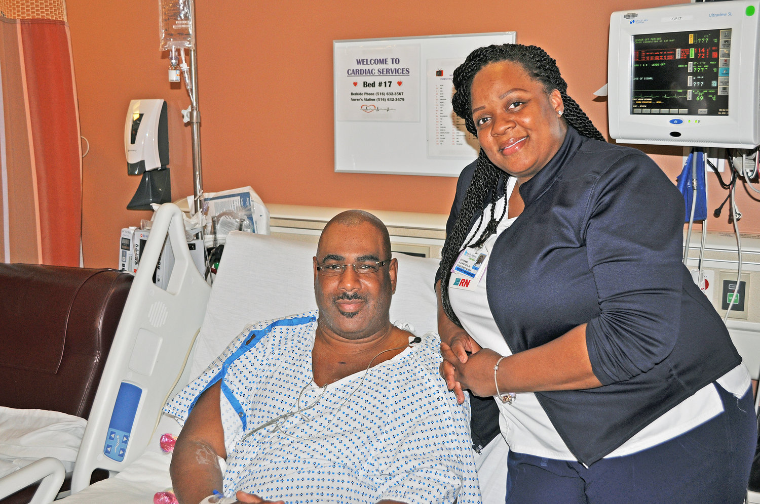 DeShawn Mason nearly died on Easter Sunday after suffering a cardiac issue while watching a movie at Regal Cinemas 13 in Lynbrook, but was saved by Shyvonne Allen-Ibitoye, a nurse at South Nassau Communities Hospital, in Oceanside, who was also attending a matinee showing that afternoon.