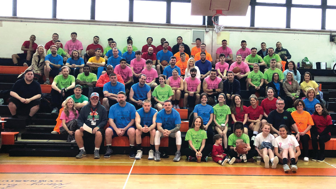 More than 70 people came to East Rockaway Junior-Senior High School on May 5 for the fifth annual Jack D. Butler Memorial Scholarship basketball game, in honor of a late East Rockaway alumnus.