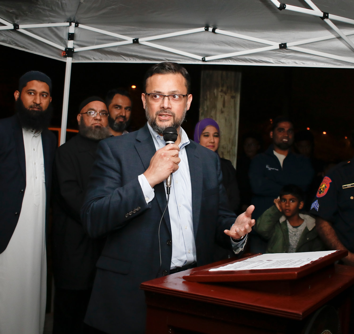 Ahsan Syed, president of Masjid Hamza offered words of thanks to the village for making the event possible.