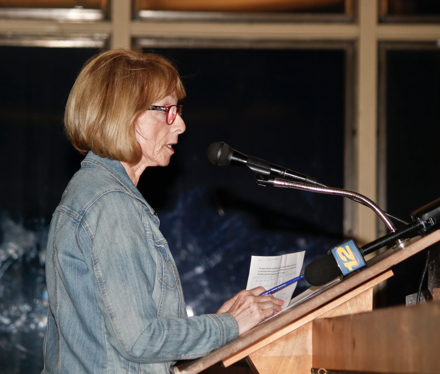 Resident Eileen Hession was among those who criticized the proposed tax increase and said that the city had years to address its financial problems.