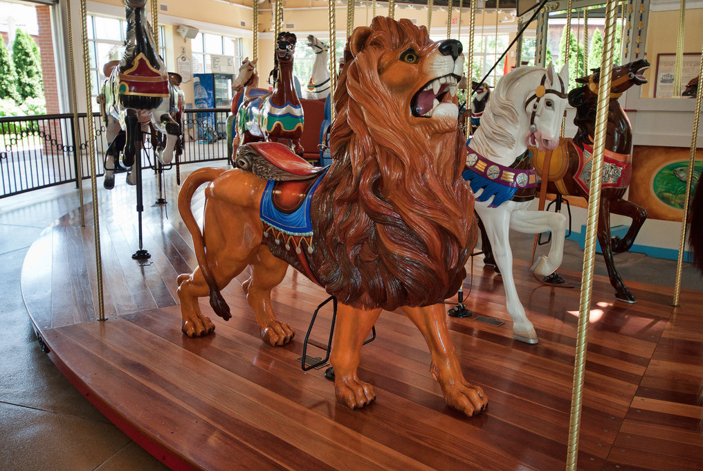 Nunley's Carousel was built 107 years ago, and reopened at the Cradle of Aviation Museum in 2009, after Nunley's Amusement Park, on the Baldwin-Freeport border, closed in 1995.