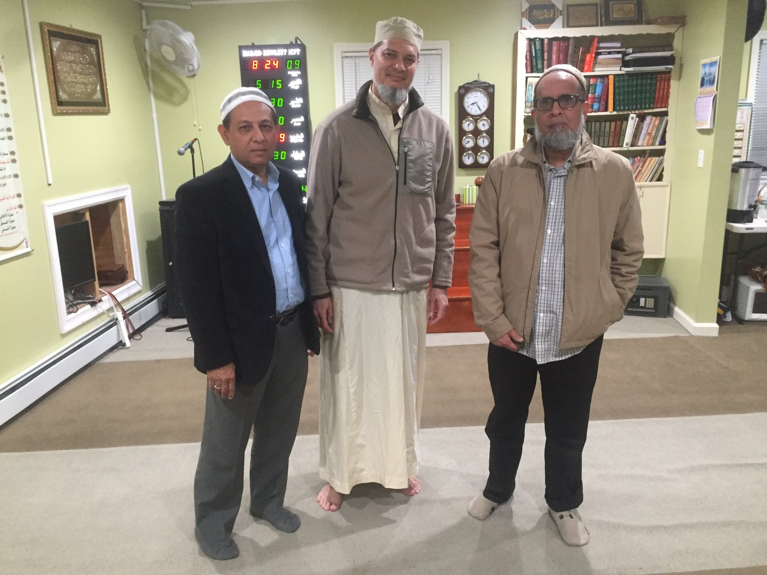 Islamic Center of the Five Town members from left, President Tanvir Ahmad, Gohar Ayub and Eqbal Rasheed explained the importance of Ramadan within the Muslim faith.