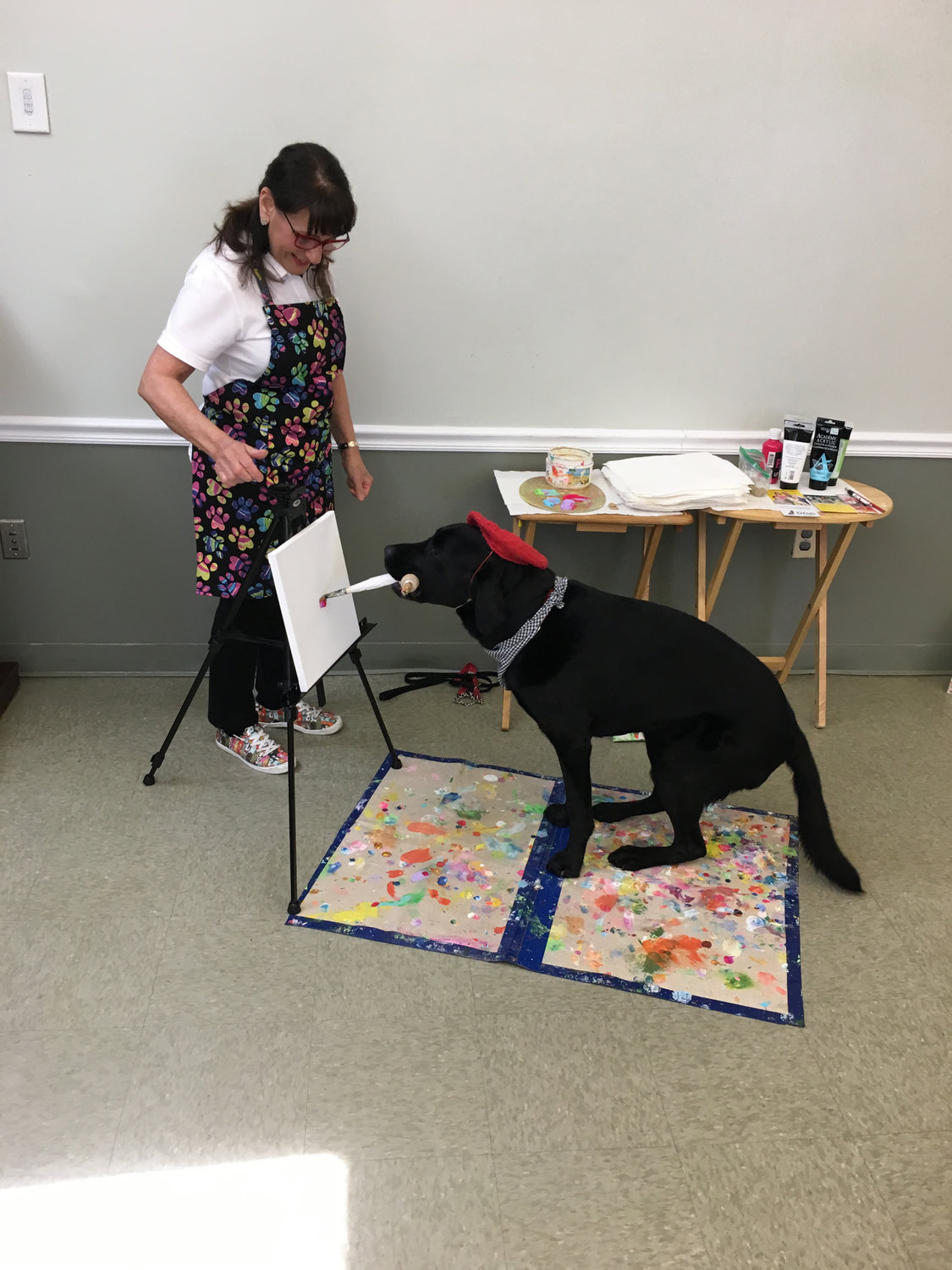 Dagger Dogvinci, who has painted since he was 2½, has done more than 500 works of art.
