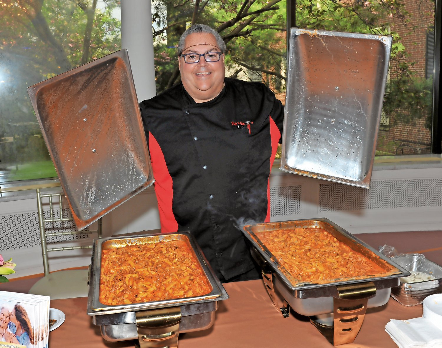 Chef Pat Marone, of the Regency, served up samples of a special pasta dish.