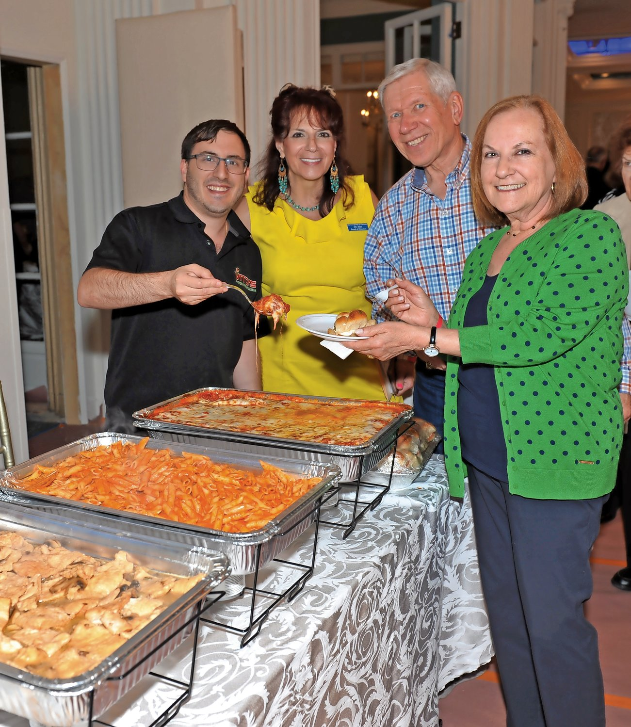 Event chair Dr. Maxine Cappel Mayreis and Tom and Evelyn Bass sampled homemade Italian fare from Vito's Ristorante.