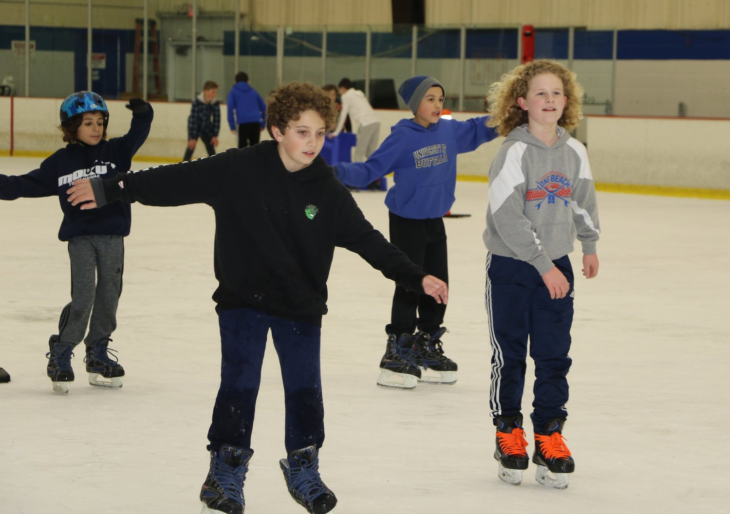 Long Beach Middle School students skated together at Tween Nite Out at the Long Beach Ice Arena on March 22.