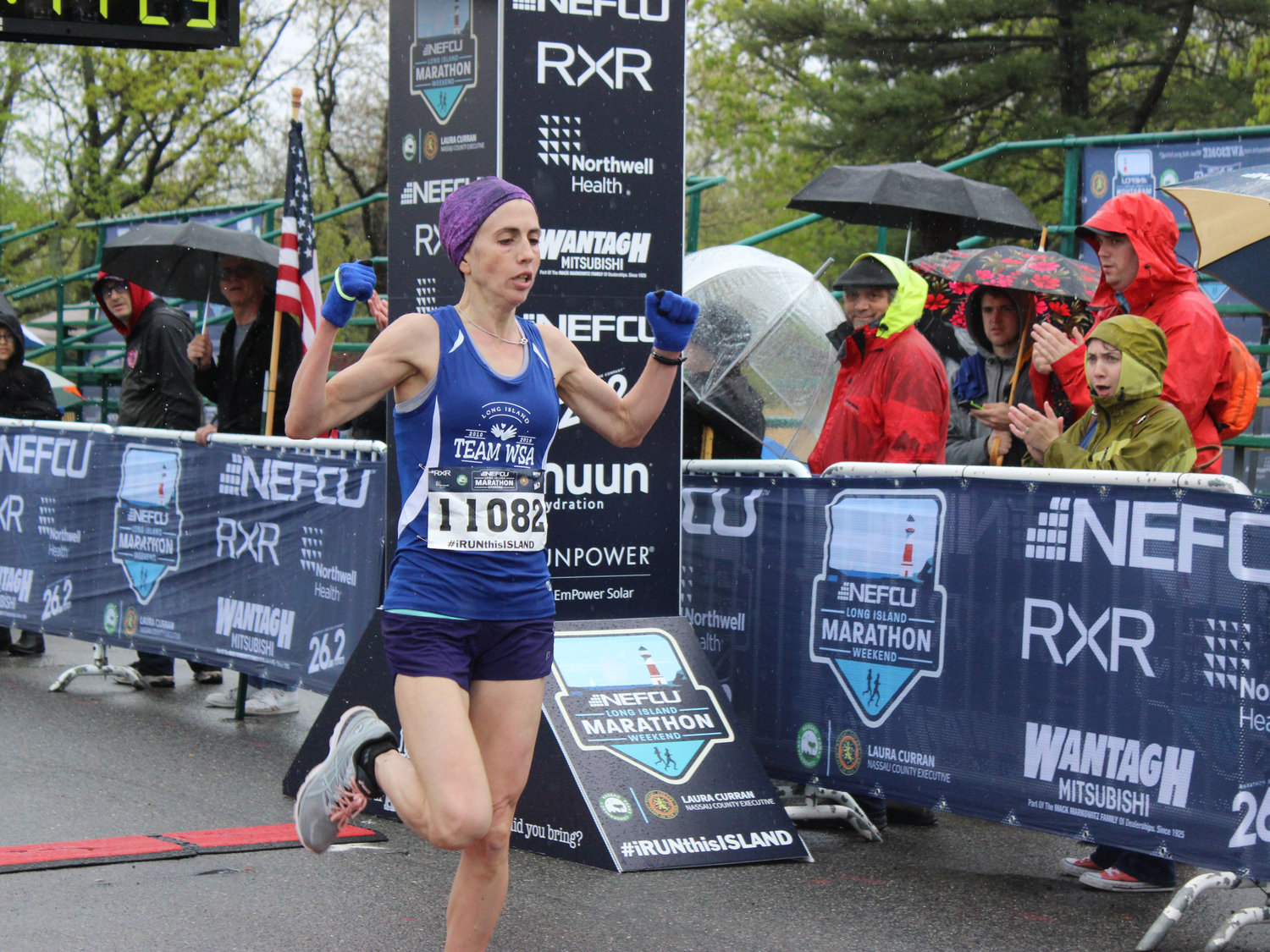 Shari Klarfeld, of Plainview, finished second in the 10K race out of the female competitors.