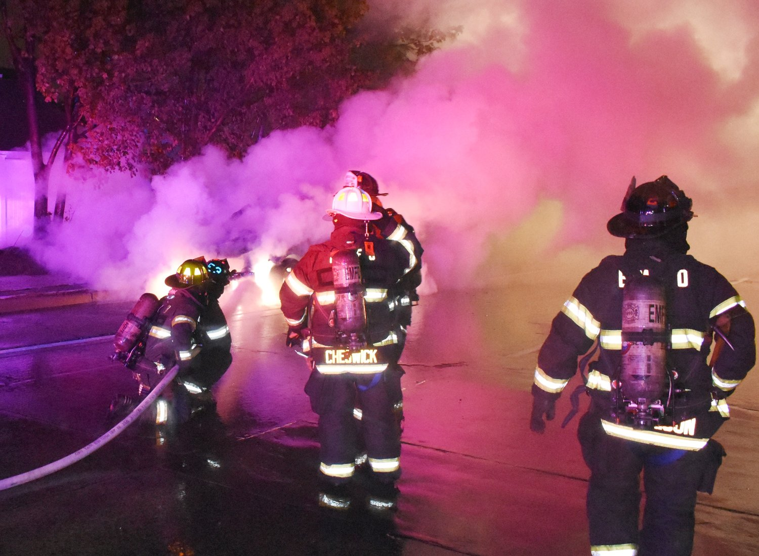 EMFD Stations 3 and 4 extinguished a car fire on Newbridge Road on May 5 at 9:16 p.m.