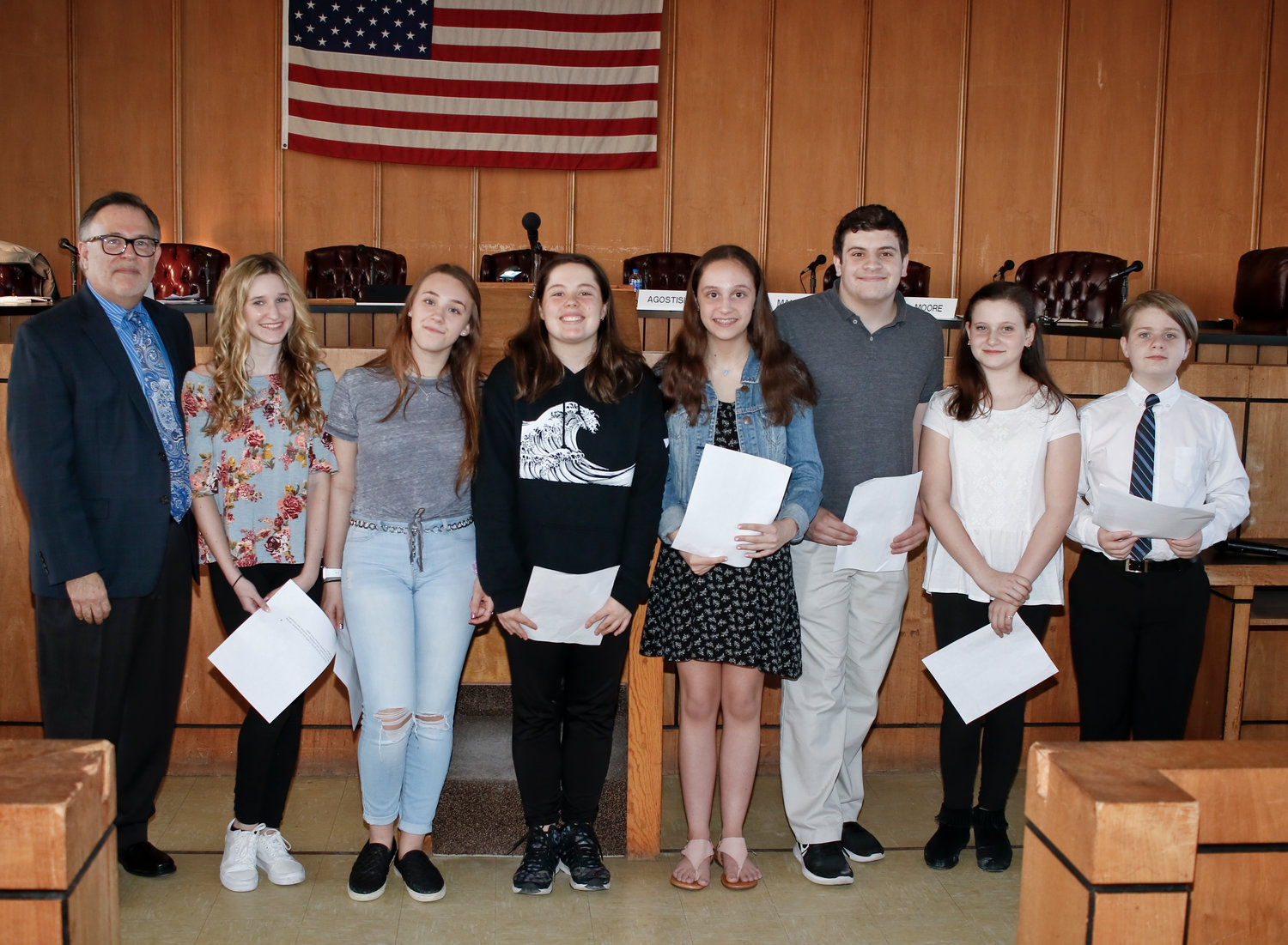 Temple Emanu-El also invited students to present quotes to the community from Elie Wiesel, well-known author and Holocaust survivor, at Tuesday's City Council meeting.