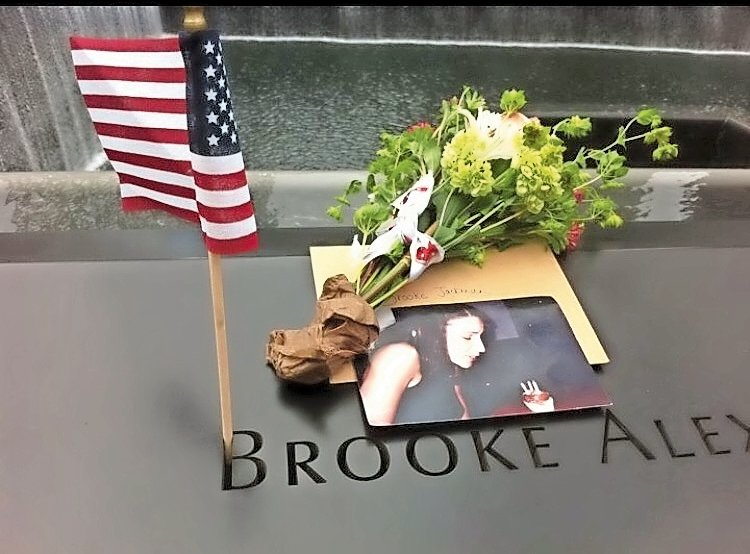 After her death, Brooke Jackman was memorialized at the World Trade Center in Manhattan.
