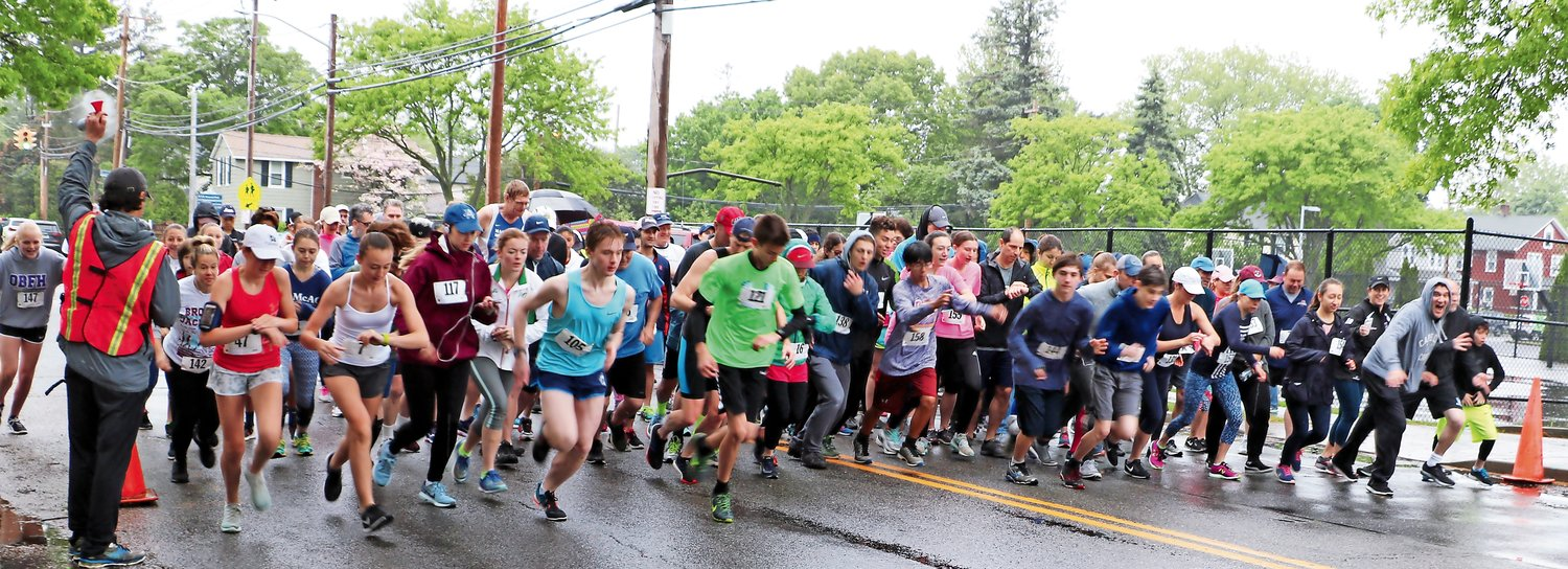 Rain didn't stop dozens of runners from competing in the 13th annual  Race for Literacy — and supporting the Brooke Jackman Foundation — last spring.