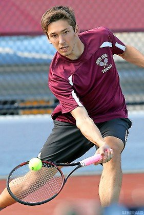 Top singles player Luke Karniewich helped North Shore capture the Nassau Conference 3A title in undefeated fashion.