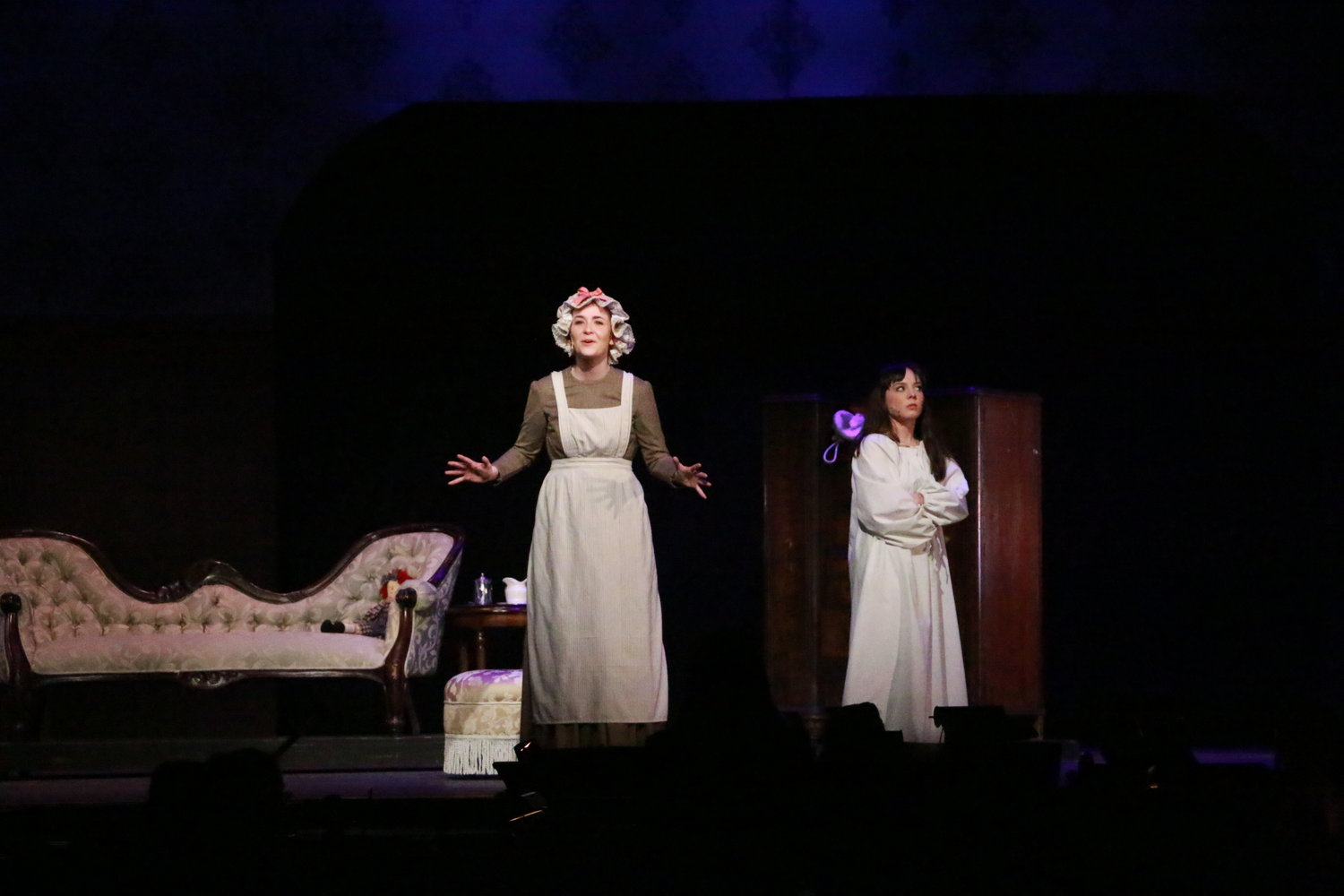 "Aline McEntee, left, who played Martha in ""The Secret Garden"" last month, was one of two South Side High School students recently nominated for a Roger Rees Award. She was joined in the scene by Melissa Aliotta, who played Mary Lennox."