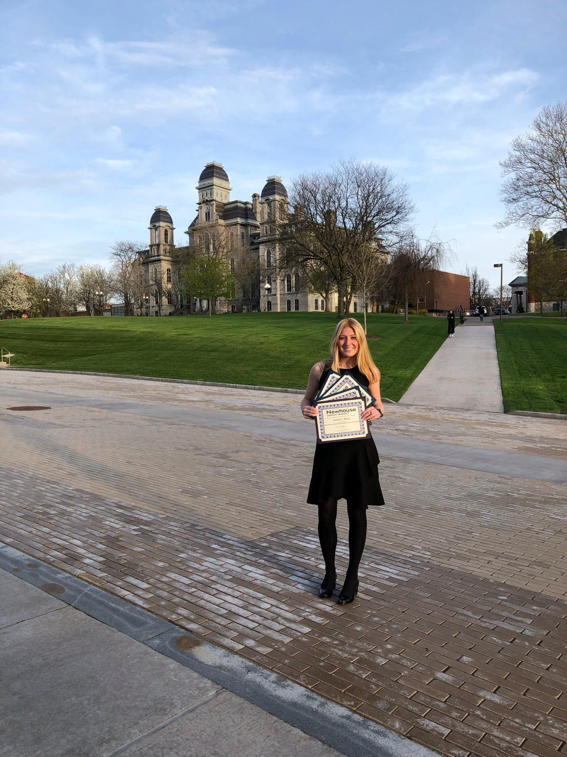 Syracuse University's S.I. Newhouse School of Public Communications senior Jessica Beyer received four awards, including Advertising Student of the Year